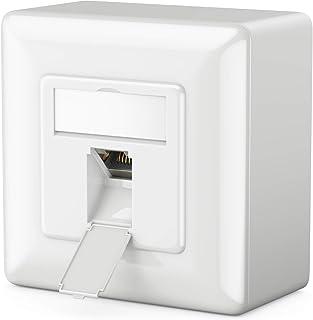 MutecPower 2m 10 Pack Cables de Red Ethernet Ultra Plano Cat 7 con enchufes RJ45 Cable Delgado Patch LAN Latiguillo Cables de 2 Metros Rojo//Amarillo//Azul//Negro//Blanco con Bridas y Clips