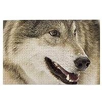 狼 Wolf 木のパズル 1000ピース 丈夫 耐久性 ジグソーパズル 大人向け 子供向け キャラクター パズル 娯楽誕生日プレゼント 動物 風景 アニメ 装飾画 難易度調整可能 面白い チャレンジングファミリーゲーム 誕生日 クリスマス ギフトプレゼント