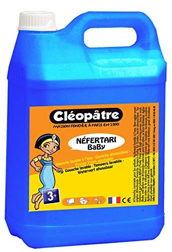 Cléopâtre - PGBB5-5 - Peinture Gouache Néfertari Baby - Cyan/Bleu Primaire - Bidon 5 L