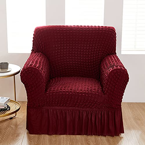HUANXA Stretch Sofa slipcover, 1 2 3 4 seat Sofa Cover one Piece with Skirt Armchair Cover Couch Covers Durable Washable Couch slipcover Furniture Protector