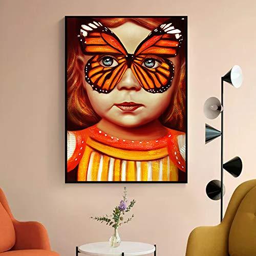 GJQFJBS Leinwand Malerei Druck Wandkunst Bild für Wohnzimmer Kinder Schlafzimmer Wohnkultur Abbildung A4 30x40cm