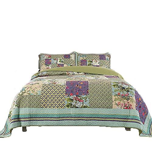 YEE Funda de cama acolchada de 3 piezas de verano con aire acondicionado