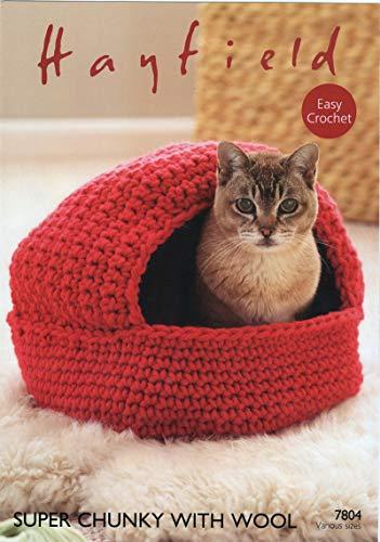 Haak patroon voor het maken van Cat Nest en opslag manden.