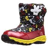 [ディズニー] 防水 防寒 スパイク付 ブーツ マジック ミッキー ミニー キッズ DN WC032E ブラック 14 cm 2E
