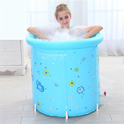 Piscine pour enfants bain gonflable adulte baignoire Foldable enfant baigner baignoire plastique baignoire cadeau chaud Foldable 80 * 80cm bleu Accueil