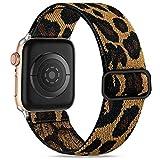 Wepro Kompatibel mit Apple Watch Armband 44mm 42mm für Damen/Herren, Dehnbarer Verstellbarer...