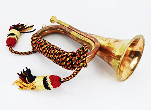 Boy Scout Brass and Copper Blowing Bugle Attack War Command Signal Horn...