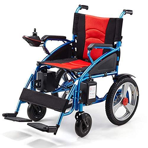 PLLP Medizinischer Reha-Stuhl, Rollstuhl, Zusammenklappbarer Elektrischer Rollstuhl, Sitzbreite 45 Cm, 12-Ah-Lithium-Batterie-Mobilitätsstuhl, Motorisierte Rollstühle