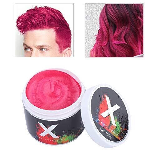 Simlugn Haarfarbe Wachs Instant Temporäre Einwegfrisur Dye Mud(rot)