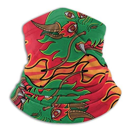 Ying Yang Head Dragon Unisex Invierno Polar Cuello Calentador Polainas Hairband Tubo Frío Cara Térmica Cuello Bufanda Al Aire Libre Protección UV Fiesta Cubierta