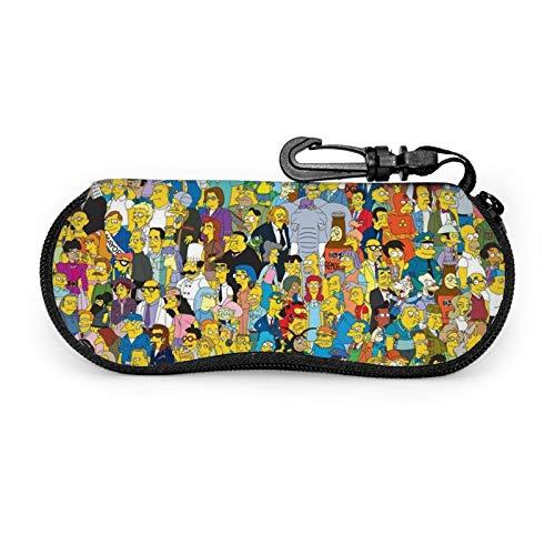 Pretty Socks The Simpsons - Funda para gafas de sol blandas, portátil, con clip, para niñas y mujeres