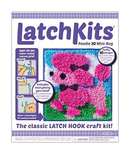 LatchKits - Kit de Costura de Mini rugas para Hacer Manualidades con Gancho, diseño de caniche 3D