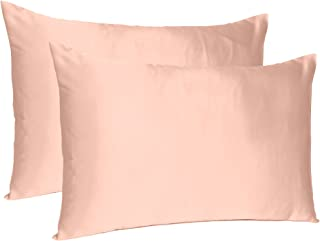 Oussum Satin Silk Soft and Comfortable Silky Terracotta Pillow Case Cover for Hair and Skin Home Decor (Standard -20X26 In...