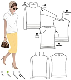 Style Arc Sewing Pattern - Esme Designer Knit Top Sizes 04-16 unknown