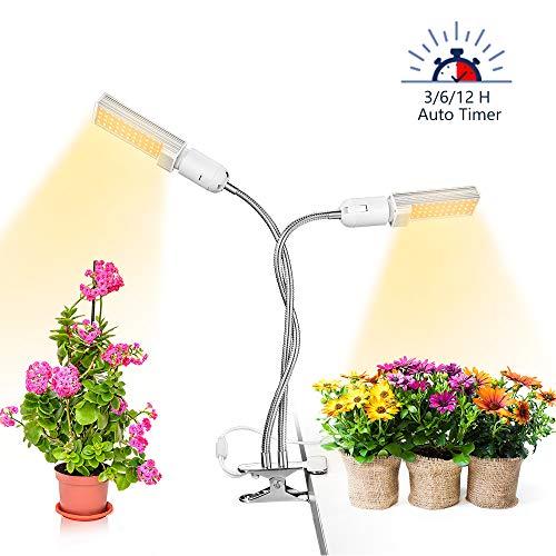 Anten Pflanzenlampe 45W dimmbar Led Grow Light Vollspektrums Pflanzen Licht Lampe Pflanzenlicht Pflanzenleuchte,2 Modus, 6 Lichtstärken, mit Klemme für Garten Zimmerpflanzen
