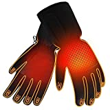 Winter Rechargeable Electric Warm Heated Gloves Men Women Battery Powered Heating Gloves,Waterproof Touchscreen Thermal Insulated Heated Gloves for Winter Sports Outdoors Climbing Hiking Hand Warmer