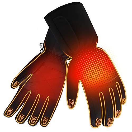 Winter Rechargeable Electric Warm Heated Gloves Men Women Battery Powered Heating Gloves,Waterproof...