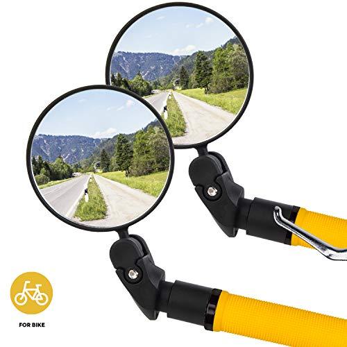 2 PCS Espejo Retrovisor para Bicicleta Ajustable Bici Ciclismo Espejos Retrovisores para Bicicletas de Montaña