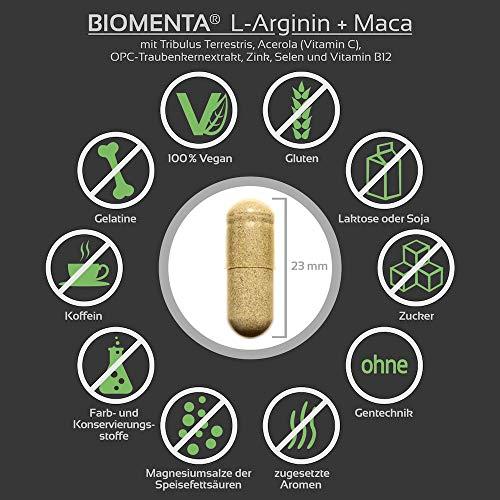 Biomenta L-Arginin und Maca - 3