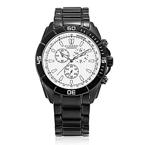 Reloj Digital para Hombre Reloj Deportivo Informal Reloj con Esfera de Acero Inoxidable -B