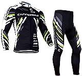 Gutsbox Maillots Ciclismo Hombre Ropa Ciclismo, Traje Ciclismo Hombre + Pantalon con 4D Acolchado De Gel, A Prueba De Viento, Transpirable