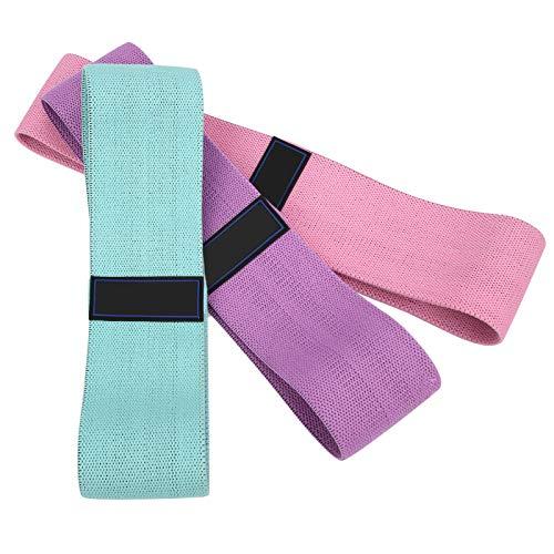 Fybida Cinturón de Resistencia a la Aptitud Cinturón elástico Accesorio de Yoga Correa de Cadera Látex aplicable Elástico Suave para Cuerpo Medio Radical