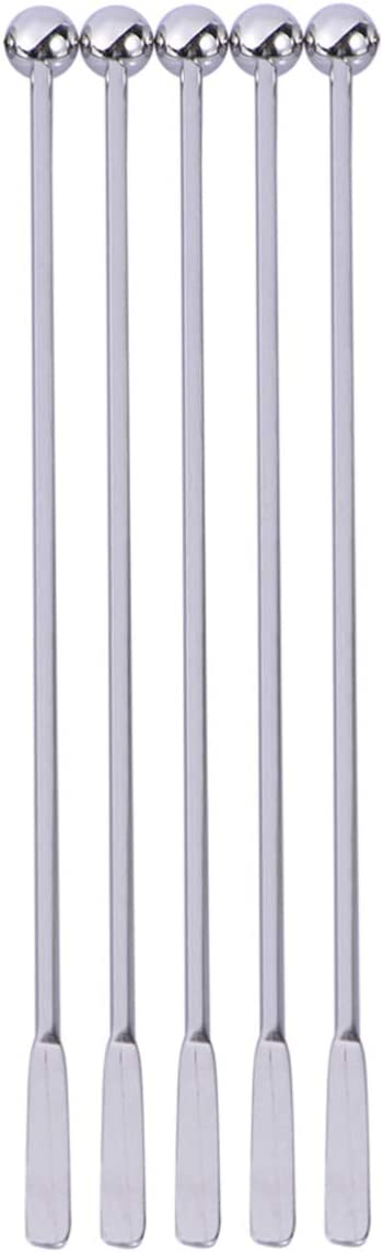 Cabilock 5pcs Cocktail wholesale Swizzle Stirrer Max 59% OFF Stainless Mi Steel Sticks