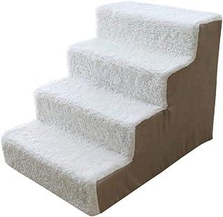 shewt Suave Cachemira Mascota Escalera Animal Escalera de rampa Máquina extraíble Lavable Cubierta Sofá Cama Escalera