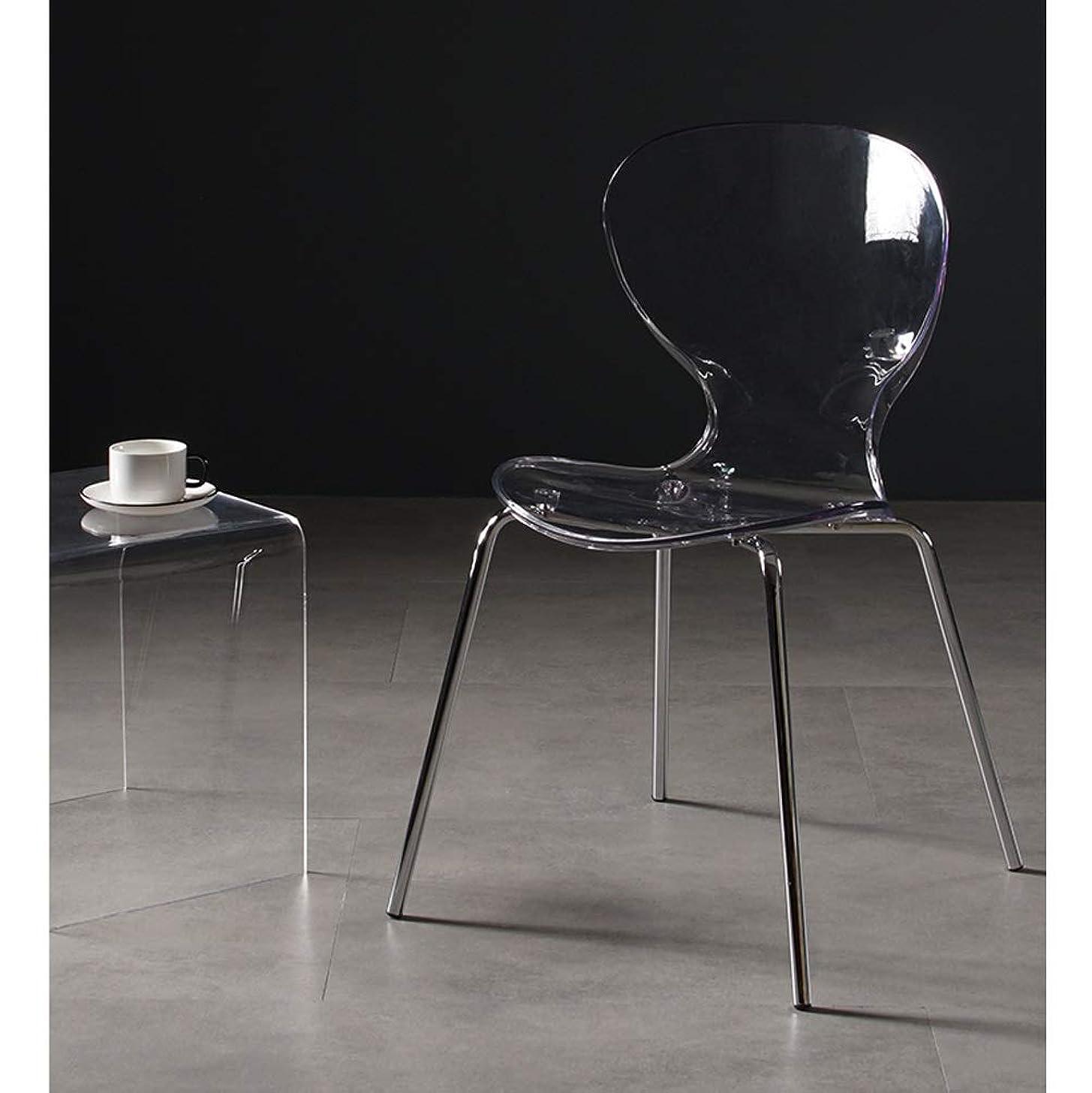 肉一般的に違法LRZS-Furniture クリエイティブアリ椅子、レジャープラスチックダイニングチェア、北欧透明スツール、アクリルシンプルネット赤背もたれオフィスチェア (色 : クリア)