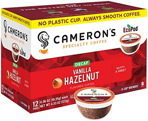 Cameron s Coffee Single Serve Pods Flavored Decaf Vanilla Hazelnut 12 Count Pack of 6 product image