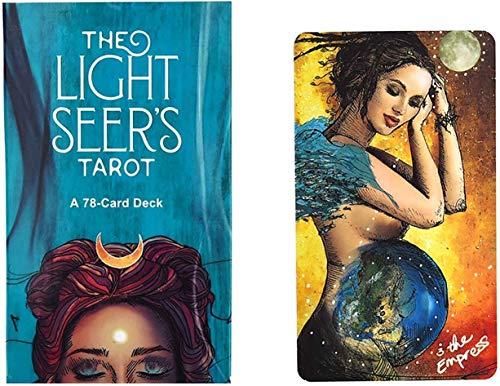 MAZ Light Seers Tarot-Deck, Tarot-Deck 78 Karten, Tarotkarten, Tarot-Deck, Tarotkarten Und Buch Für Anfänger Set, Family Party Board Spiele