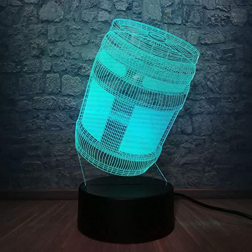 wangZJ Lámpara de ilusión 3d / estado de ánimo Luz de noche / 7 colores cambiantes Luz de noche de toque/juguetes para niños Regalo/dormitorio Decoración/Lustre Batalla