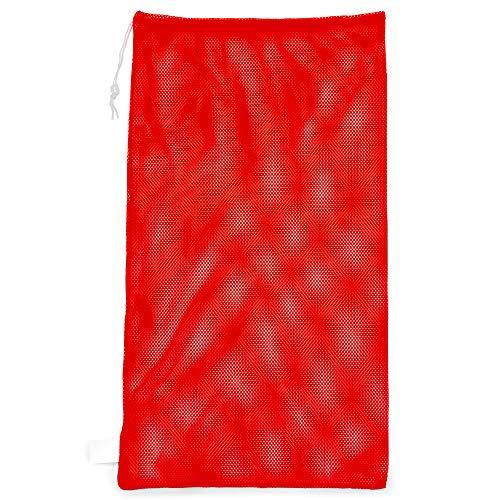 Sport Mesh Bolsa de Equipo campeón, Rojo Brillante, 60,96 cm x 121,92 cm