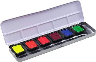 Finetec FN9000 Metal Paint Box, 6 Premium Neon Watercolours, 6 Colours, 23 x 6.5 x 1.7 cm