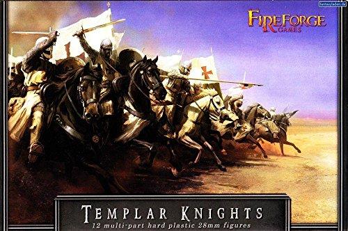Fireforge Games 002 - 12x Tempelritter - 28mm Kreuzritter Miniature auf Pferd - Deus Vult Kavallerie Figuren