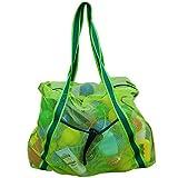 Leberna Large Beach Foldable Lightweight - Beach Toy Bag Mesh Bag for Swimming Pool Sand Toys