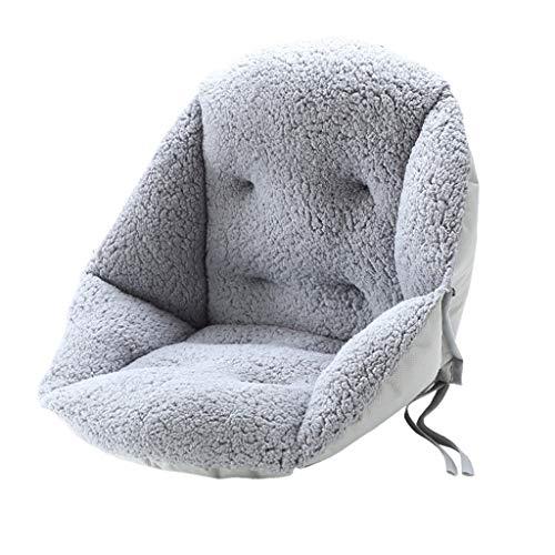 LLLD Sun Lounger Cushion Chair Cushions, 100% Plush Thicken Cushion Back Office Waist Belt Seat Pads Dorm Room Stool Plush Butt Dining Chair Seat Cushions (Color : Gray)