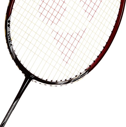 YONEX Badminton Racket Nanoray Series 2018 with Full Cover Professional Graphite Carbon Shaft Light Weight Competition Racquet High Tension Fast Speed Performance (NR6000I - Black/Red, Pack of 1)