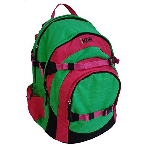 iKON Rucksack 44 cm, 29L, Pink & Green