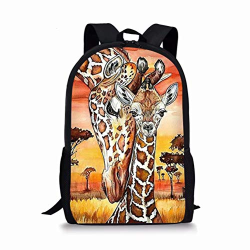 chaqlin Animal Giraffe Print School Bags,Preschool Rucksack for Boys Girls School Backpack Nursery Kids Children Bookbags