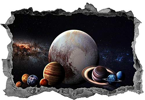 Wandtattoo'Solar System,Sticker,Wall Art,3d,Space,Bedroom,Planets,Decal,Mural'