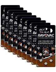 Rayovac Acoustic zink lucht hoorapparaat batterij in grootte (met 60 batterijen geschikt voor hoorapparaten gehoorhulpen hoorversterker) bruin, 312, 60 stuks