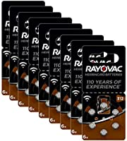 Rayovac 60 Batterie per apparecchi acustici Zinco Aria Modello 312 (Marrone))