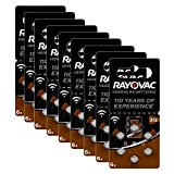 Rayovac Acoustic Zinc Air Hearing Aid Batteries, Size 312 SU, Brown Tab, Pack of 60