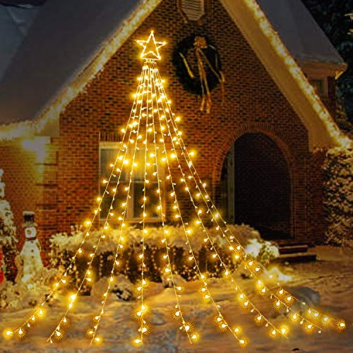 XURISEN 344 LED Christmas Tree Lights for Outdoor Decoration Warm White