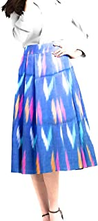 Weaved Skirts Blue