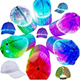 FamilyeShop Light Up Baseball Cap White Luminous LED Baseball Cap 7 Colors Glow Hat for Men Women USB Rechargeable Light Up Caps for Night Time Halloween Christmas Party Club