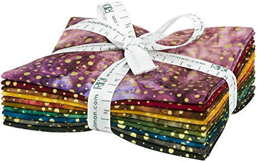 Lunn Studios Artisan Batiks Sparkle Gold 10 Fat Quarters Robert Kaufman Fabrics FQ-1644-10