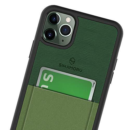Sinjimoru - Funda para iPhone 11 Pro MAX con Billetera Fina, Funda Protectora de TPU con Tarjetero para la Parte Posterior del móvil - Verde