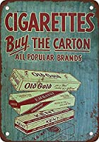 タバコはカートンを買う 金属板ブリキ看板警告サイン注意サイン表示パネル情報サイン金属安全サイン
